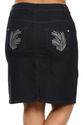 Wholesale Plus size Denim Skirt MSB-3601
