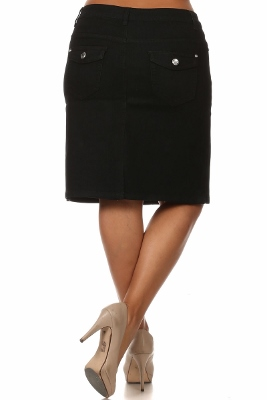 Wholesale Plus size Denim Skirt MSB-3709