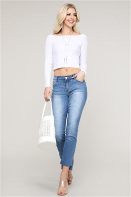 wholesale Cropped denim jeans - Urban Chick