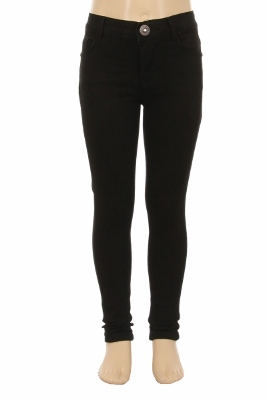 Girls Solid 5 Pocket Classic Pants NCSP-200 Black