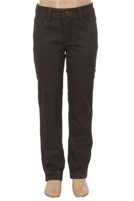 Girls Solid 5 Pocket Classic Pants NCSP-200 Charcoal