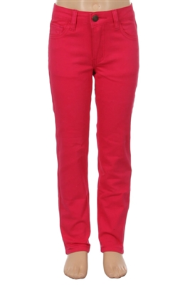 Girls Solid 5 Pocket Classic Pants NCSP-200 Fushia