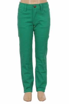 Girls Solid 5 Pocket Classic Pants NCSP-200 Green