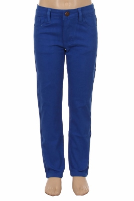 Girls Solid 5 Pocket Classic Pants NCSP-200 Royal