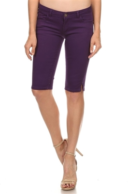 5 Pocket Basic Bermuda NSB-301-Purple