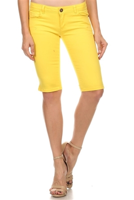 5 Pocket Basic Bermuda NSB-301-Yellow