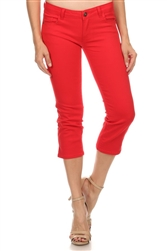 Women Capri Pants NSC-201-Red