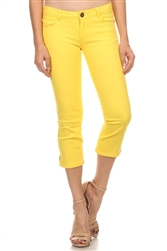 Women Capri Pants NSC-201-Yellow