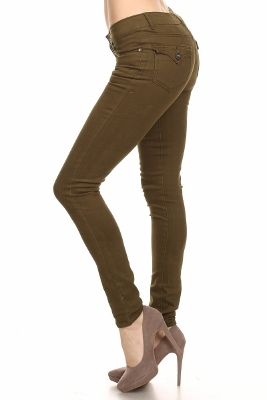 Solid Basic Pants NSP-102-Brown