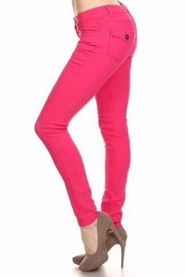 Solid Basic Pants NSP-102-Fushia