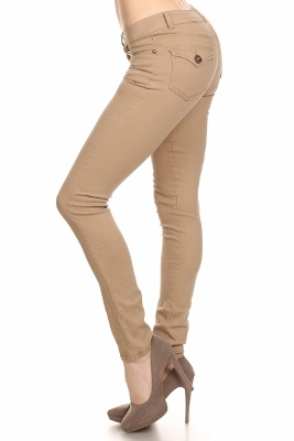 Solid Basic Pants NSP-102-Khaki