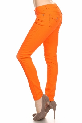 Solid Basic Pants NSP-102-Orange