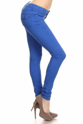 Solid Basic Pants NSP-102-Royal
