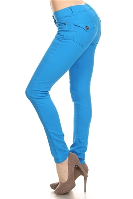 Solid Basic Pants NSP-102-Turquoise