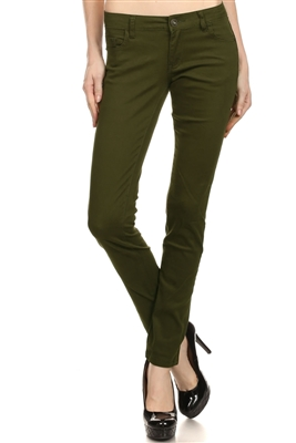 Wholesale Pants Basic 5 Pockets NSP-103 Brown