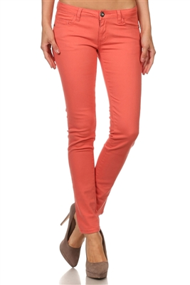 Wholesale Pants Basic 5 Pockets NSP-103 Coral