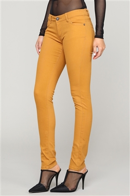 Wholesale Pants Basic 5 Pockets NSP-103 Mustard