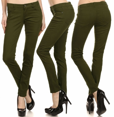 Wholesale Pants Basic 5 Pockets NSP-103 Olive