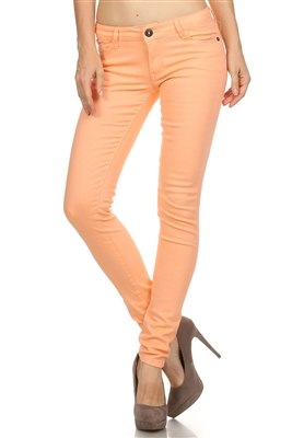 Wholesale Pants Basic 5 Pockets NSP-103 Peach
