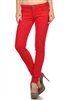 Wholesale Pants Basic 5 Pockets NSP-103 Red