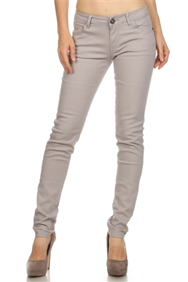 Wholesale Pants Basic 5 Pockets NSP-103 Silver