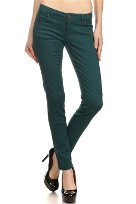 Wholesale Pants Basic 5 Pockets NSP-103 Teal