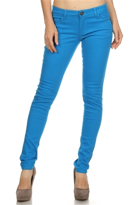 Wholesale Pants Basic 5 Pockets NSP-103 Turquoise