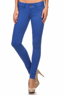 Wholesale Cotton Spandex Color Pants  NSP-105-Royal