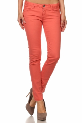Wholesale Pants Basic 5 Pockets NSP-111-Coral