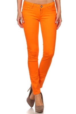 Wholesale Pants Basic 5 Pockets NSP-111-Orange