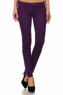 Wholesale Pants Basic 5 Pockets NSP-111-Purple