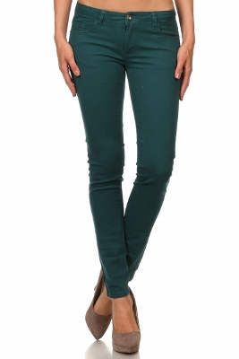 Wholesale Pants Basic 5 Pockets NSP-111-Teal