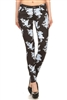 wholesale floral pants NSP-504-black