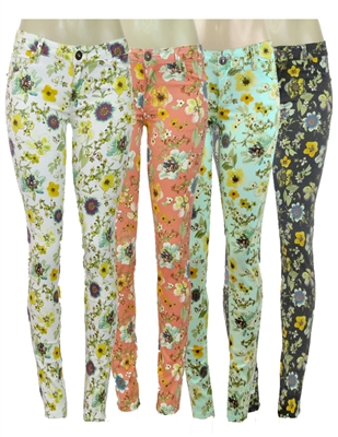wholesale floral pants NSP-512