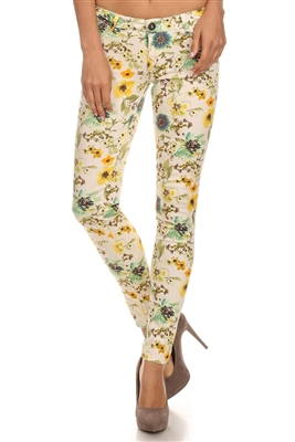 wholesale floral pants NSP-512-Ivory