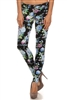Wholesale Floral Pants NSP-516 Black/Blue