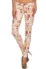 Wholesale Floral Pants NSP-516 Ivory