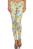 Wholesale Floral Pants NSP-516 Yellow
