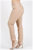 Plus Size colored High Waist Twill pants NSPB-801-Khaki