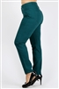Plus Size colored High Waist Twill pants NSPB-801-Teal