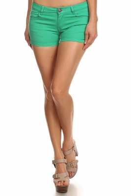 5 Pockets Classic Cotton Short NSS-401-Green