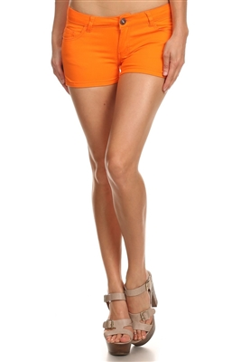 5 Pockets Classic Cotton Short NSS-401-Orange
