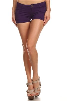 5 Pockets Classic Cotton Short NSS-401-Purple
