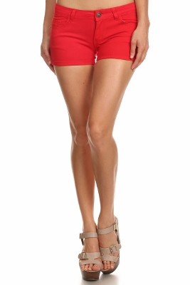 5 Pockets Classic Cotton Short NSS-401-Red