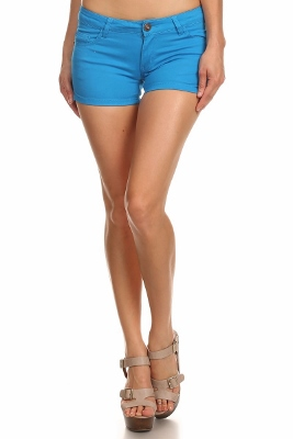 5 Pockets Classic Cotton Short NSS-401-Turquoise