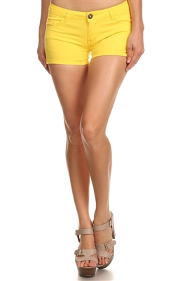 5 Pockets Classic Cotton Short NSS-401-Yellow