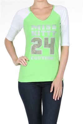 Wholesale Top P-3010-Lime