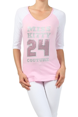 Wholesale Baseball Top P-3010-Pink