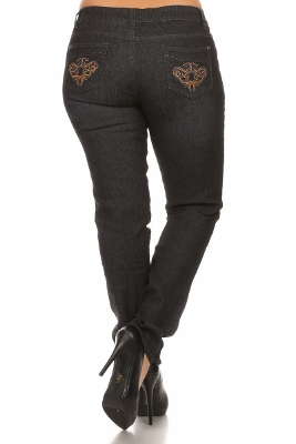 Wholesale Jeans PSB-9044-BLK