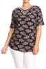 PRINT PLUS TUNIC TOP WITH TRIMS-PSLPR-002